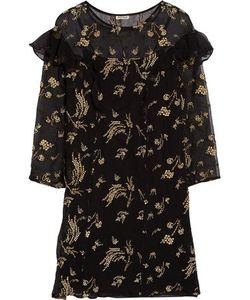 Suno | Ruffled Embellished Silk-Chiffon Mini Dress