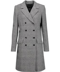 Vanessa Seward | Double-Breasted Glen Plaid Wool-Blend Coat