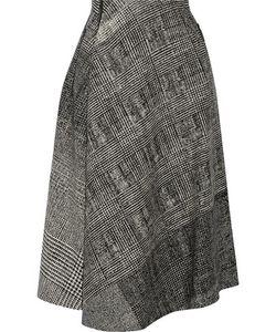 Jason Wu | Asymmetric Wool-Jacquard Skirt