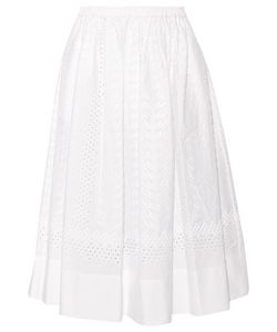 Vanessa Bruno | Edeia Broderie Anglaise Cotton Midi Skirt