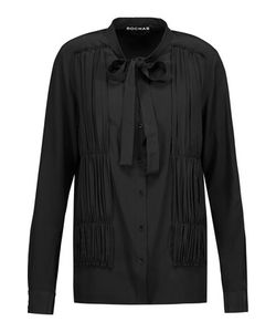 Rochas | Ruched Silk-Crepe Shirt
