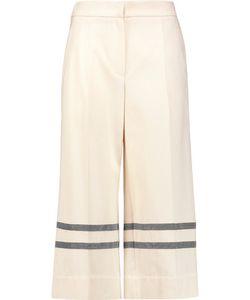 Brunello Cucinelli   Bead-Embellished Cotton-Twill Culottes