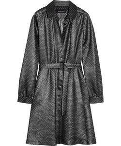 Vanessa Seward | Cherry Belted Silk-Blend Lamé Mini Dress