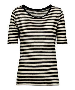 Majestic | Striped Cotton And Cashmere-Blend Gauze T-Shirt