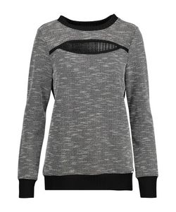 Koral | Breach Cutout Paneled Bouclé-Knit And Ribbed-Knit Sweater