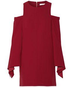 Tibi | Cold-Shoulder Stretch-Crepe Mini Dress