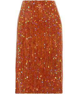Nina Ricci | Sequined Crepe Skirt