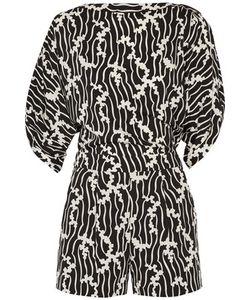 Diane von Furstenberg | Soleil Slit-Back Printed Stretch-Jersey Playsuit