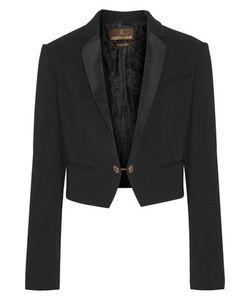 Roberto Cavalli | Silk Twill-Trimmed Crepe Blazer