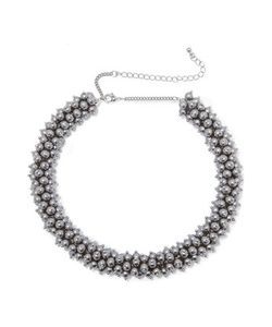 Kenneth Jay Lane | Tone Faux Pearl Beaded Necklace One