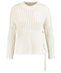 10 Crosby Derek Lam | 10 Crosby By Derek Lam Lace-Up Ribbed Cotton-Blend Sweater
