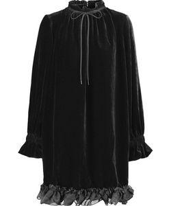 Mother Of Pearl | Lucille Ruffled Velvet Mini Dress