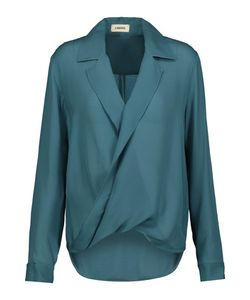 L'agence | Rita Wrap-Effect Washed Silk-Georgette Blouse