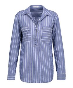 Equipment | Knox Lace-Up Striped Cotton Shirt