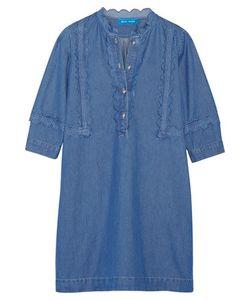 M.i.h Jeans | Angie Scalloped Cotton-Chambray Mini Dress