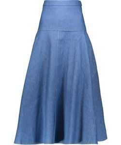 Derek Lam | Pleated Denim Midi Skirt