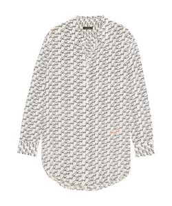 Equipment | Kate Moss Reese Printed Washed-Silk Shirt Off-