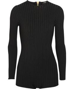 Balmain   Ribbed Stretch-Knit Bodysuit