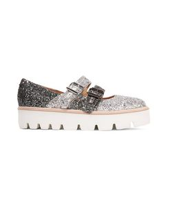 Mm6 Maison Margiela | Glittered Leather Platform Brogues