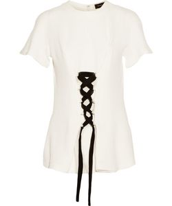Proenza Schouler | Lace-Up Stretch-Jersey Top Off-