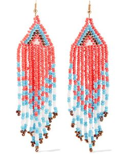 Kenneth Jay Lane | Tone Beaded Earrings