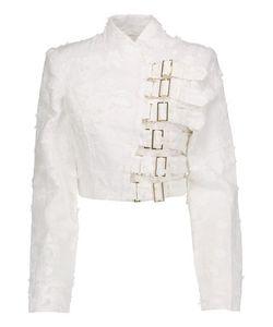 Zimmermann   Mischief Armour Cropped Embroide Linen Jacket