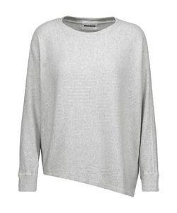 Monrow | Asymmetric Ribbed Cotton-Blend Sweater
