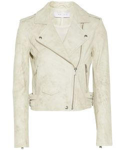 Iro | Lou Distressed Leather Biker Jacket Off-