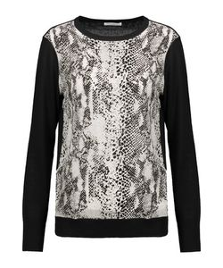 Equipment | Roland Paneled Wool And Snake-Print Washed-Silk Top