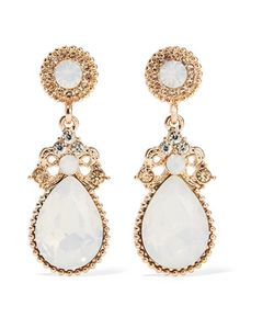 Kenneth Jay Lane | Tone Crystal And Stone Earrings Light