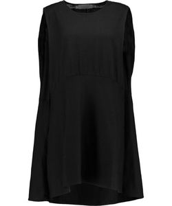 Co | Gathe Asymmetric Tton Mini Dress