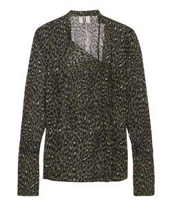 Topshop Unique | Rosalind Leopard-Print Silk-Georgette Blouse