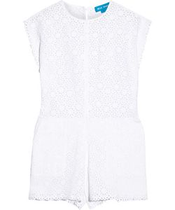 M.i.h Jeans | Broderie Anglaise Cotton Playsuit