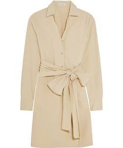 Tomas Maier   Belted Stretch-Cotton Poplin Shirt Dress