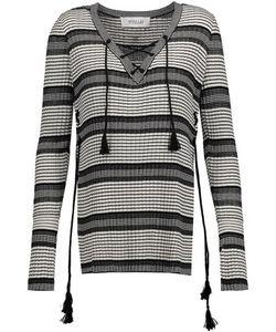 10 Crosby Derek Lam | 10 Crosby By Derek Lam Lace-Up Striped Silk-Blend Sweater