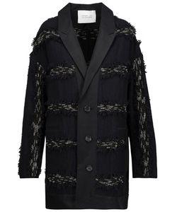 Derek Lam 10 Crosby | Paneled Frayed Woven Jacket Midnight