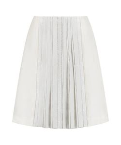 Tory Burch | Noreen Embellished Pleated Wool And Silk-Blend Skirt