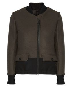 Tim Coppens | Twill-Trimmed Wool Bomber Jacket