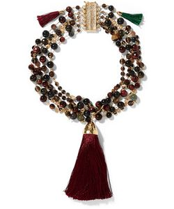 Rosantica   Gitana Layetone Bead And Tassel Necklace
