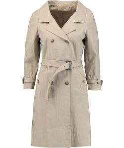 Michael Kors Collection   Crinkled Cotton-Blend Trench Coat