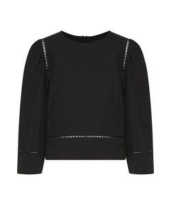 Isabel Marant | Rodwell Open Knit-Trimmed Linen And Cotton-Blend Top