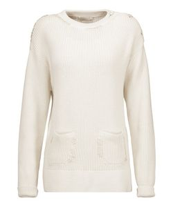 Nina Ricci | Embroidered Ribbed Cotton And Silk-Blend Sweater