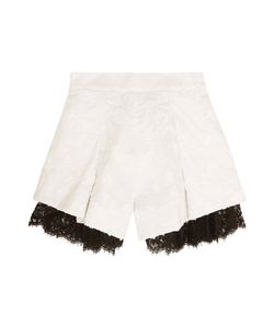 Zimmermann   Mischief Lace-Paneled Embroidered Linen Shorts Off-