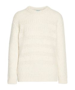 M.i.h Jeans | Dryden Open Knit-Trimmed Alpaca-Blend Sweater