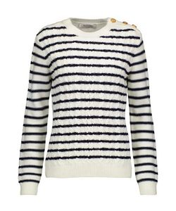 Valentino | Striped Cable-Knit Cashmere Sweater Off-