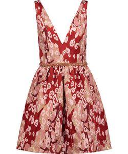 Marchesa Notte | Embellished Leopard-Print Brocade Mini Dress