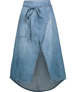 Current/Elliott | The Paperbag Denim Wrap Midi Skirt