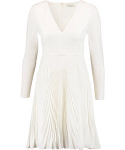 Halston Heritage | Pleated Stretch-Crepe Mini Dress