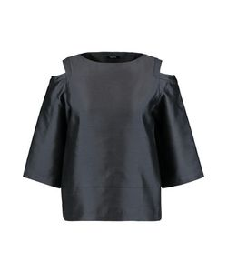 Raoul | Oriole Cold-Shoulder Silk And Wool-Blend Shantung Top