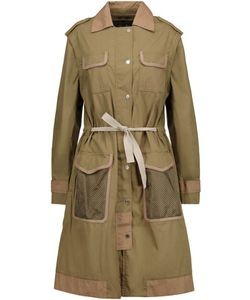 Belstaff | Convertible Leather-Trimmed Cotton Trench Coat